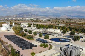 La EDAR de Novelda- Monforte del Cid construye una nueva planta fotovoltaica en sus instalaciones